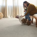 Girl with puppy on Carpet | Reinhold Flooring
