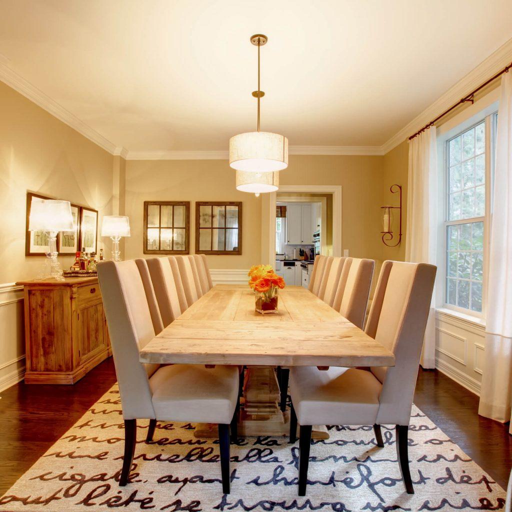 Dining table room flooring   Reinhold Flooring