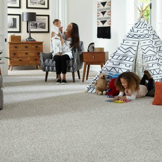 Family on Carpet floor | Reinhold Flooring